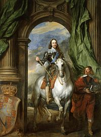 Sir Anthony van Dyck. Equestrian portrait of Charles I with Seignior de St Antoine