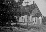 Charlotteville Methodist Church; erected 1856 and demolished 1962