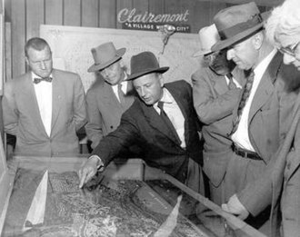 Clairemont, San Diego - Clairemont Development in the 1950s (courtesy of San Diego Historical Society)