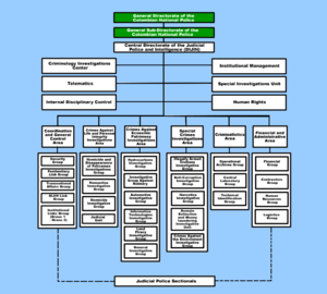 Directorate of Criminal Investigation and Interpol - DIJIN Chart.