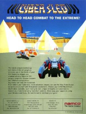 Cyber Sled - Arcade flyer