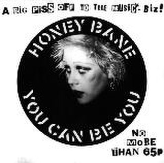 """Crass Records - Sleeve of """"You Can Be You"""" by Honey Bane, sleeve designed by Gee Vaucher"""