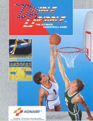 Double Dribble (video game) - Image: Double Dribble arcadeflyer