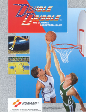 Double Dribble (video game) - U.S. arcade flyer of Double Dribble
