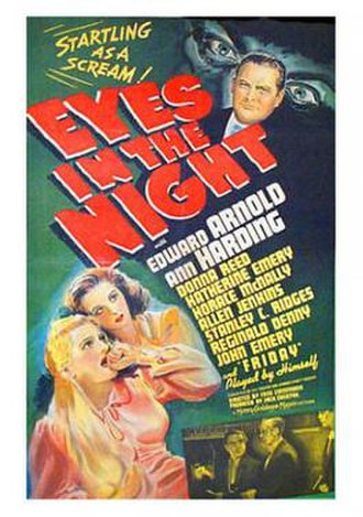 Eyes in the Night - Theatrical release poster