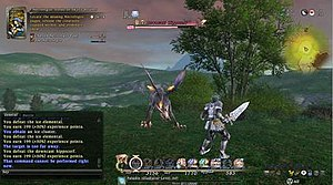 Final Fantasy XIV - Image: FFXIV 1.23 battle interface
