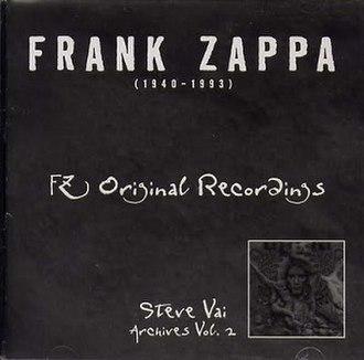FZ Original Recordings; Steve Vai Archives, Vol. 2 - Image: FZ Original Recordings Steve Vai Archives, Vol. 2