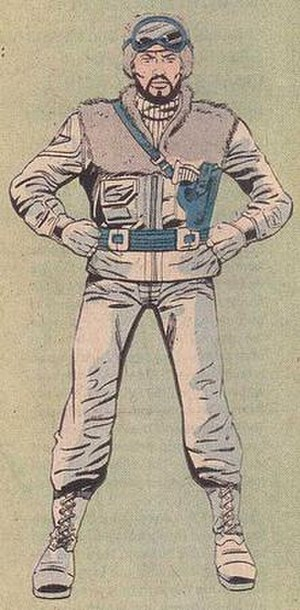 Frostbite (G.I. Joe) - Illustration of Frostbite from G.I. Joe: Order of Battle. Art by Herb Trimpe.