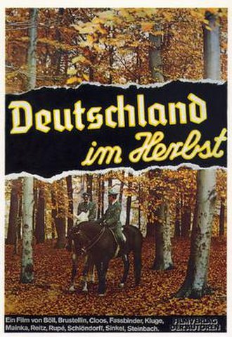 Germany in Autumn - Theatrical release poster