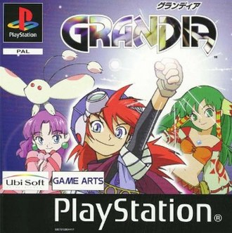 Grandia (video game) - European PlayStation cover art