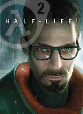 Half-Life 2 - North American cover art, featuring series protagonist Gordon Freeman