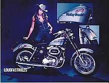 Harley Davidson Confederate Edition Wikipedia Sportster Model 1977 Promotional Image