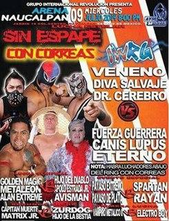 Sin Escape Con Correas 2014 International Wrestling Revolution Group event