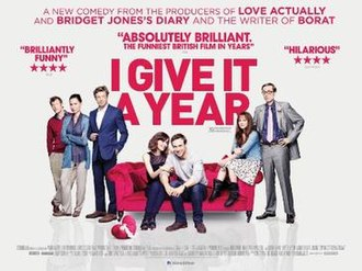 I Give It a Year - UK release poster