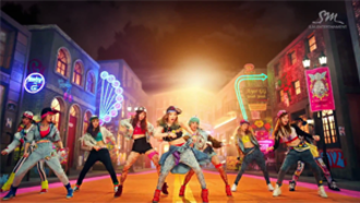 I Got a Boy (song) - The music video was praised for its flamboyant fashion style, particularly with this scene in which Girls' Generation perform the choreography.