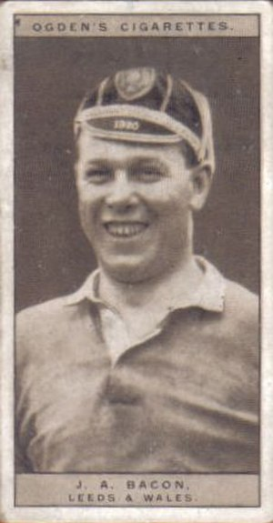 Jim Bacon (rugby) - Ogden's Cigarette card featuring Bacon