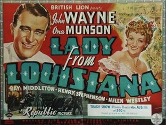 Lady from Louisiana - Film poster
