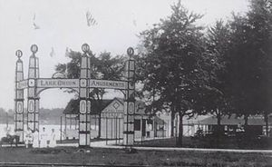 Lake Orion, Michigan - Lake Orion as a resort and amusement destination in the early 20th century.