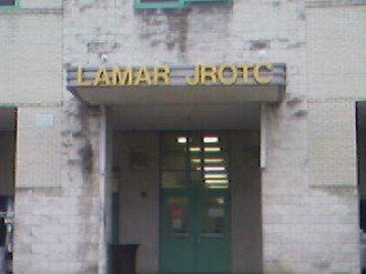 Lamar High School (Houston) - Entrance to the Lamar JROTC Building
