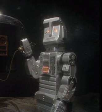 Marvin the Paranoid Android - A close-up of the Marvin costume from the 1981 TV series, from Episode Five.