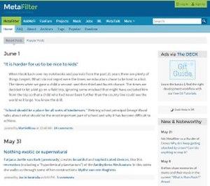 MetaFilter - Image: Meta Filter screenshot 2015