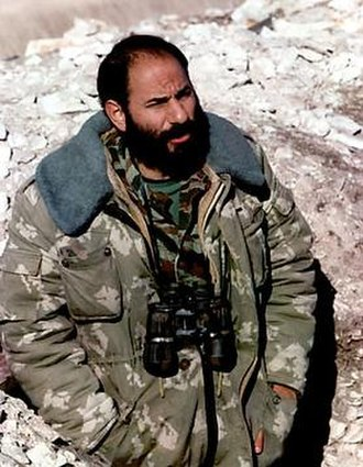 Monte Melkonian - Melkonian during the Nagorno-Karabakh War in Martuni, January 1993