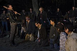 Last Day on Earth (The Walking Dead) - Image: Negan Rick