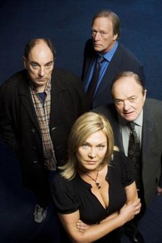 New Tricks - The original cast of New Tricks – Amanda Redman with (from left) Alun Armstrong, Dennis Waterman and James Bolam