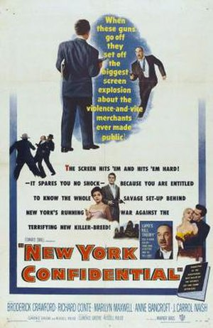 New York Confidential (film) - Theatrical release poster