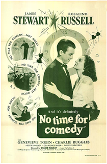 <i>No Time for Comedy</i> 1940 film by William Keighley