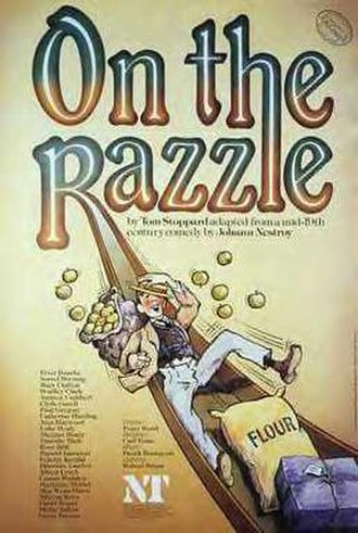 On the Razzle (play) - Poster for the original Royal National Theatre production