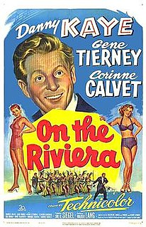 <i>On the Riviera</i> 1951 film by Walter Lang