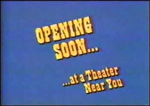 Sneak Previews - Title card from Opening Soon at a Theater Near You.
