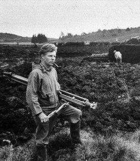 Peter Glob Danish archaeologist and bog body scientist