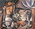 Pablo Picasso, 1909, Still Life, Casket, Cup, Apples and Glass, Bologna Gallery of Modern Art.jpg