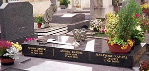 Jean-Pierre Rampal - Grave of Rampal in Montparnasse Cemetery