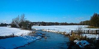 River Ise - The River Ise at Burton Latimer, Northamptonshire.