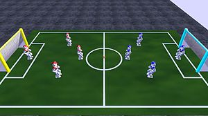 RoboCup Simulation League - Image: Robo Cup 3D Soccer Field