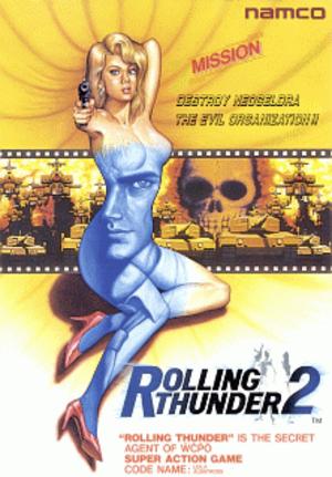 Rolling Thunder 2 - European arcade flyer