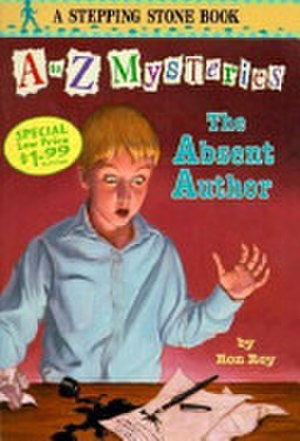 A to Z Mysteries - The front cover art for The Absent Author, the first book in the A to Z Mysteries series