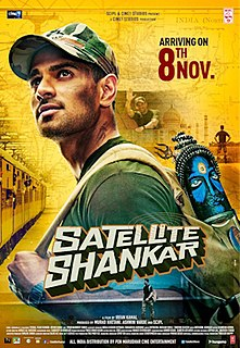 <i>Satellite Shankar</i> 2019 Indian action film written and directed by Irfan Kamal