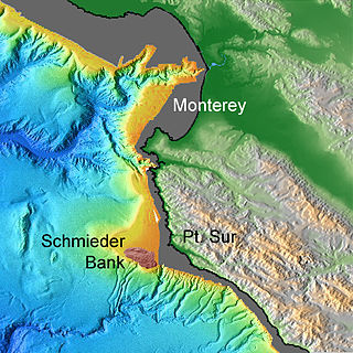Schmieder Bank A rocky bank west of Point Sur, California, south of Monterey