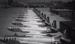 Fiend Without a Face - Period stock footage of USAF aircraft was featured in Fiend Without a Face.
