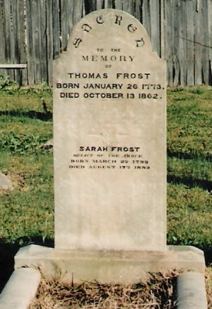 Penrith, New South Wales - Thomas Frost's grave at St. Stephen's
