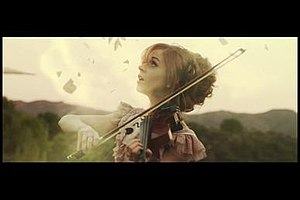 "Shatter Me (album) - Stirling in the music video of the single ""Shatter Me"""