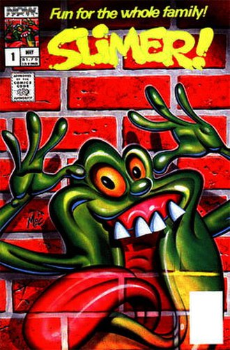 """The Real Ghostbusters (comics) - """"Slimer"""" by NOW Comics"""