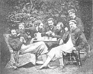 St John's Wood Clique - Photograph of the St John's Wood Clique in 1864 or 1865