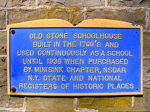 District School No. 9 - Image: Stoneschoolmarker