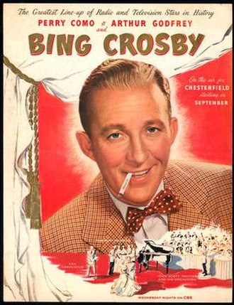 The Bing Crosby – Chesterfield Show - Image: The Bing Crosby – Chesterfield Show advert