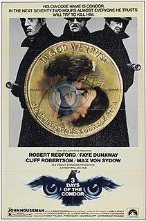 <i>Three Days of the Condor</i> 1975 film by Sydney Pollack